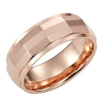 R&B Joyas - Anillo hombre estilo whisky club matrix, tungsteno, anillo 8mm, talla 14, color bronce: Amazon.es: Joyería