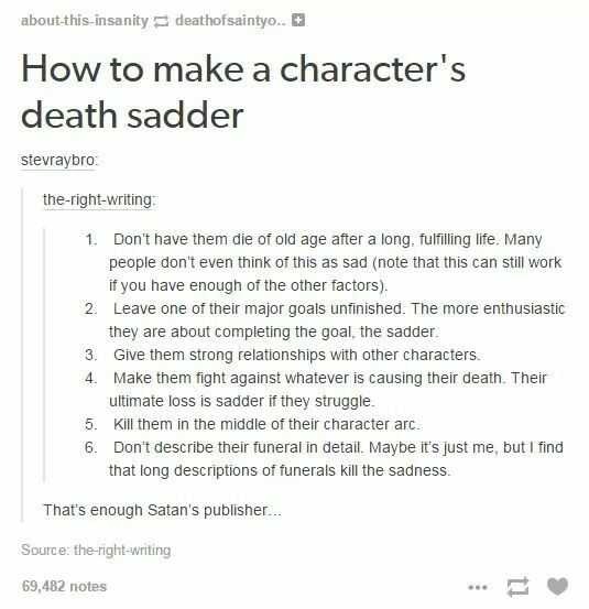 Looking to kill off a character? This might help you out. ;)