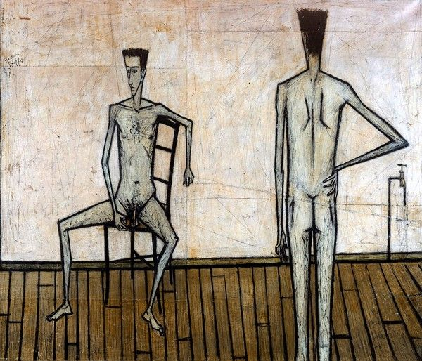 Cave to Canvas, Bernard Buffet, Two Nude Men, 1947