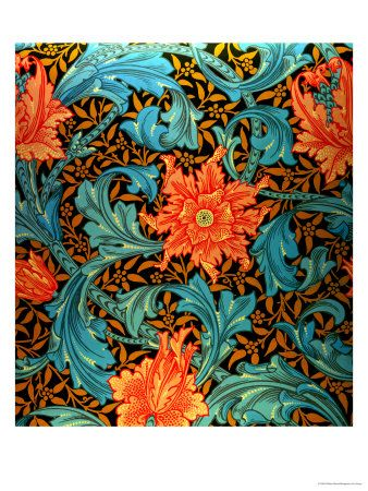 William Morris- someone should make sheets with this pattern.