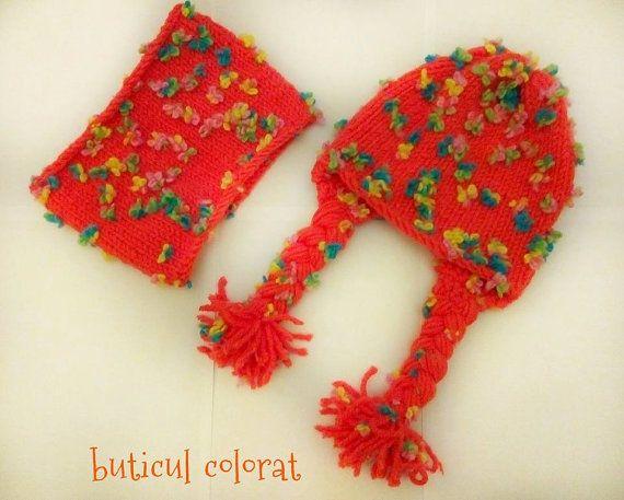 Crochet hat for girls/women crochet neck warmer by ButiculColorat