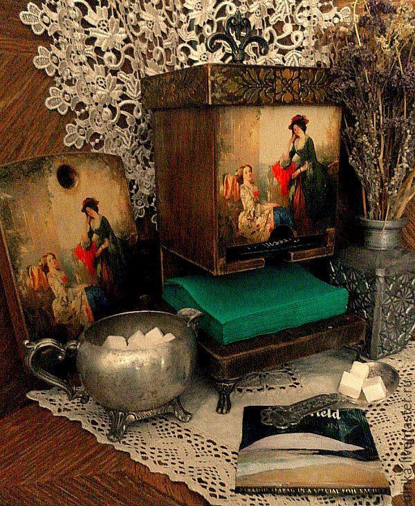 """Купить Набор для кухни """" Душечка"""" - коричневый, зеленый, золотой, бронзовый, чайный домик"""
