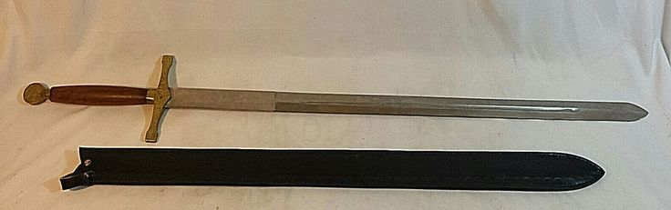 Stainless Steel Sword Made In Pakistan Leather Sheath 33