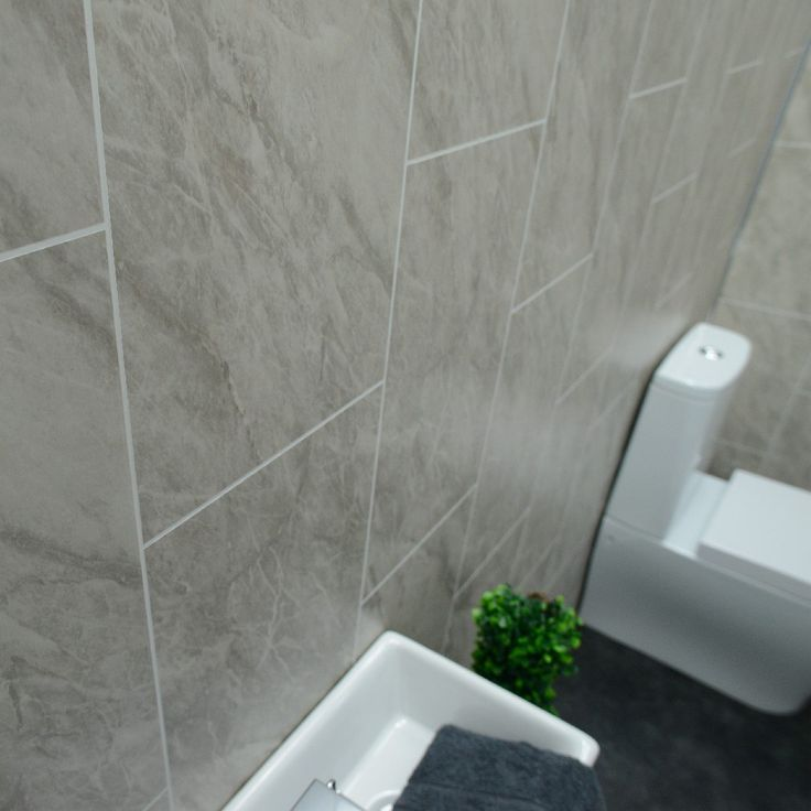 grey marble bathroom wall panels tile effect cladding used on shower wall panels id=65190