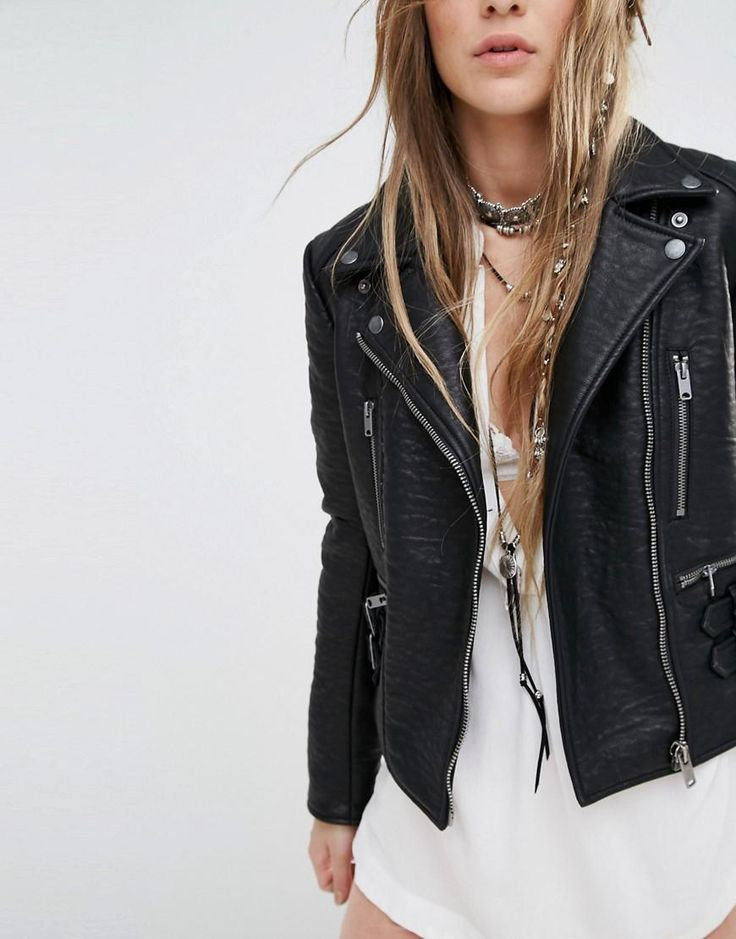 Free People has a huge selection of vegan clothing (we love their faux-leather Soho Jacket).