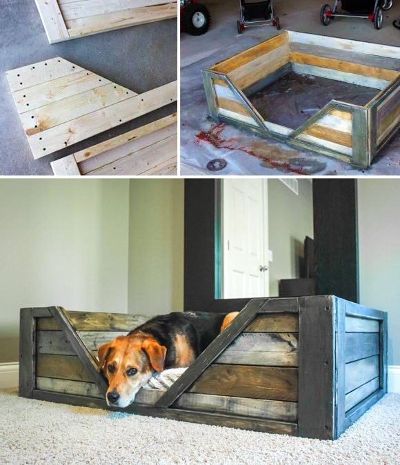 Making Sleeping Arrangements: Creative Ideas for DIY Dog Beds - #6 DIY wooden large dog bed