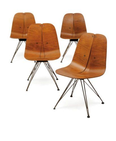 Lovely Iver Bertelsen; Molded Plywood And Enameled Metal Swivel Chairs For  Steelcraft, 1945. I Design Ideas