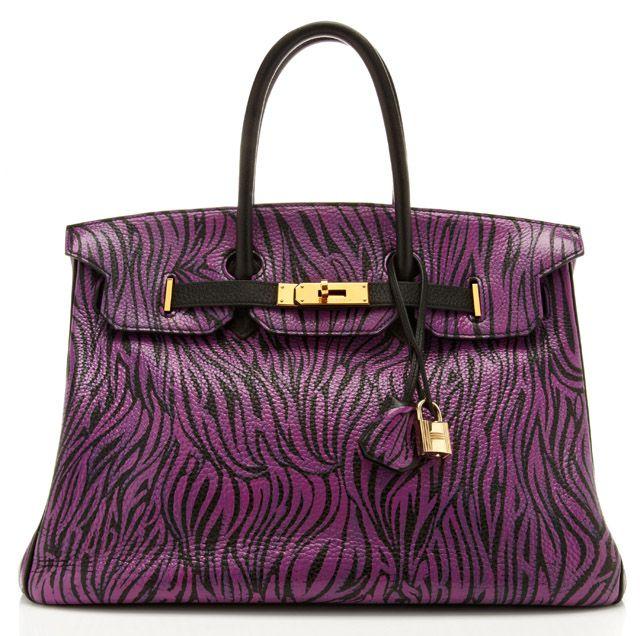 One-of-a-kind,  graffiti-clad Hermes Birkin Bag, customized just for Moda by artist Travis W. Simon.