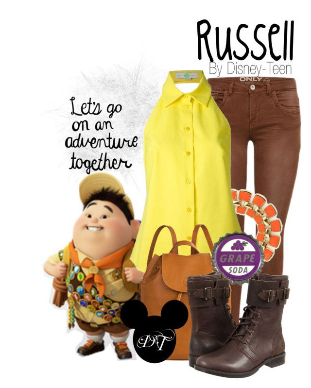 """Russell"" by disney-teen ❤ liked on Polyvore featuring Cheville, STELLA McCARTNEY, Hidesign, UGG Australia, disney, up, disneybound, pixar and disneyfashion"