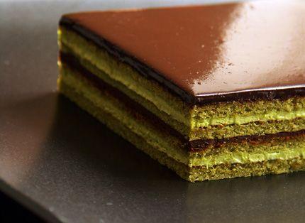 Green Tea Opera Cake; http://www.tastebook.com/recipes/1168789-Green-Tea-Opera-Cake