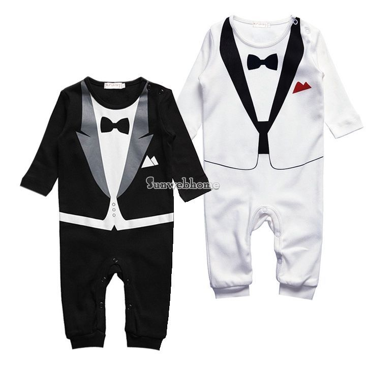 Kid Baby Boy Cotton Gentleman Romper Jumpsuit Bodysuit Clothes 6-24M Outfit #Unbranded #Everyday