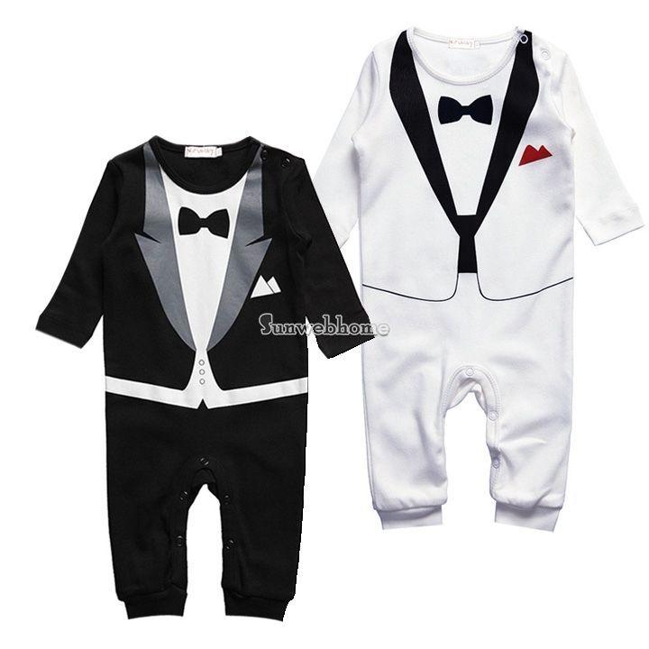 Kid Baby Boy Cotton Gentleman Romper Jumpsuit Bodysuit Clothes 6-24M Outfit #Unbranded #Everyday