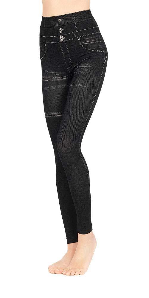 Slim Nero Leggings Up Pompea Colore Push Tomasa Silhouette Jeans a5qdqBx0