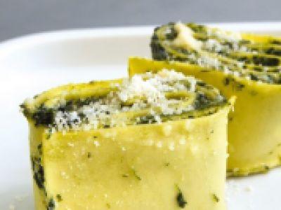 Recette - Lasagnes roulées aux épinards et à la ricotta   Notée 4.2/5