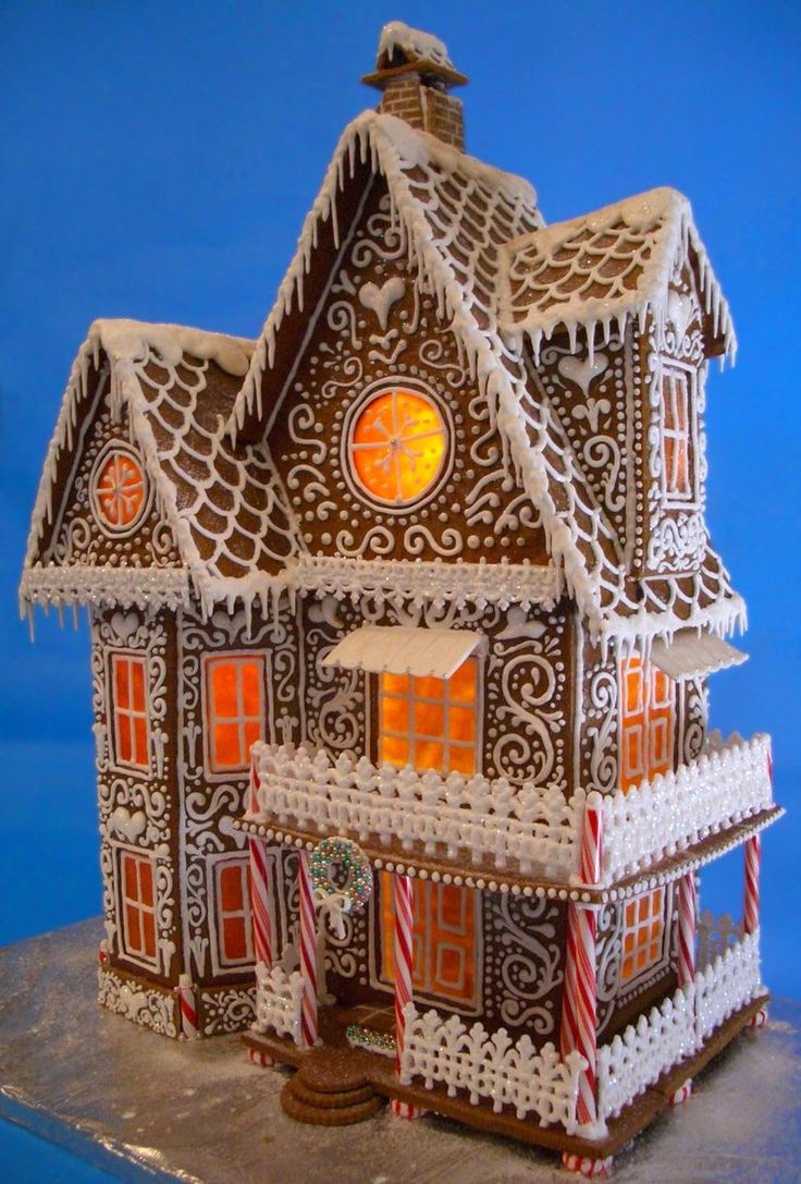 "My Gingerbread House 2013 - Winter Wonderland Stands 21"" tall and over 15"" wide."