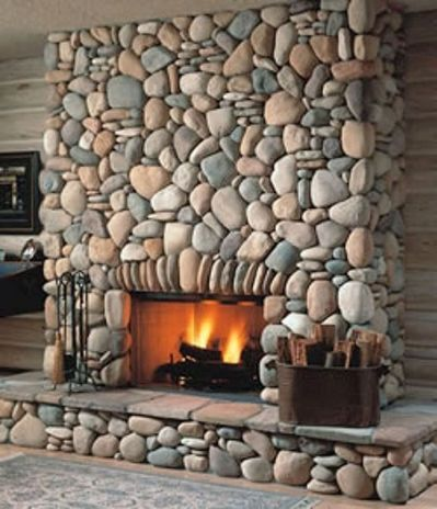 i love me a river rock fireplace