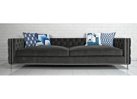 This New Sofa Show Its Colors, And Details Both Inside And Out Featuring  Tufted Brussels Metal Velvet, Chrome Nail Heads And Our Custom Turned  Lucite Legs.