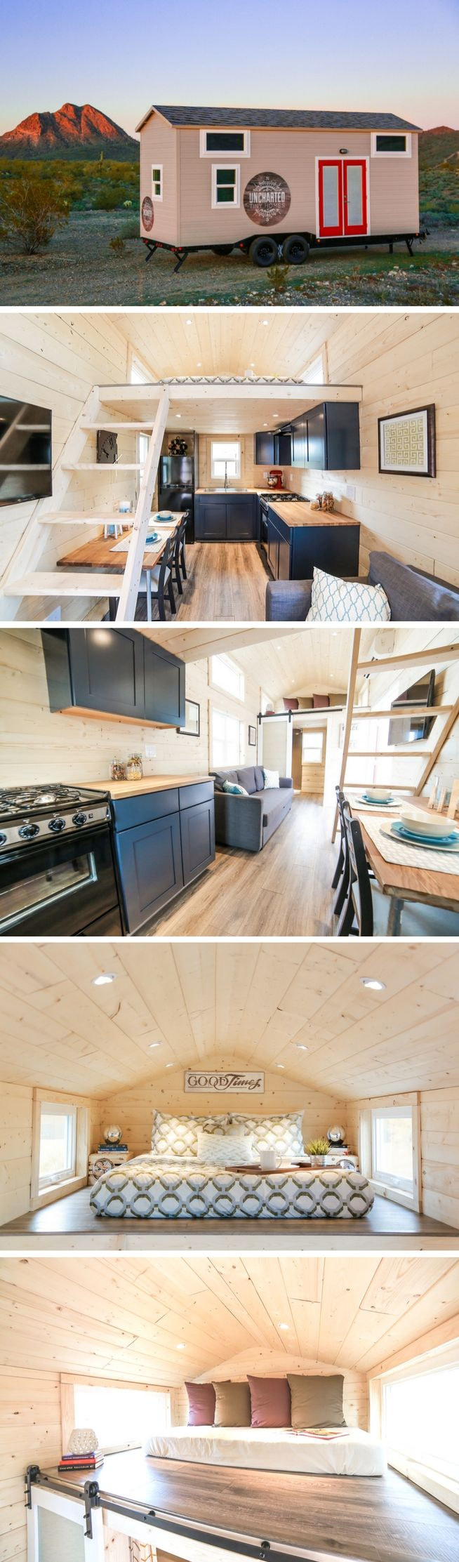 The Mansion, a beautiful 270 sq ft tiny house on wheels