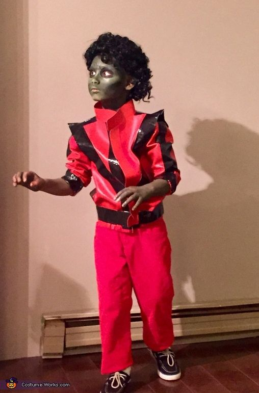 Crescent: My six year old son discovered his love for Michael Jackson about a year ago and was set on dressing as Him from thriller. I made the jacket out of...