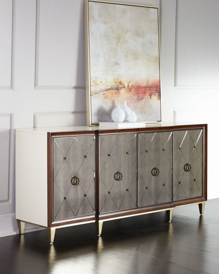 Evangeline Mirrored Buffet, Brown - 88 Best *Cabinets & Storage > Buffets & Sideboards* Images On