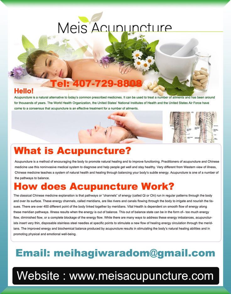 Do you have aches or stiffness in your back before you even get of bed in the morning? If your answer is in affirmative, then contact Mei's Acupuncture in Orlando for back pain treatment.