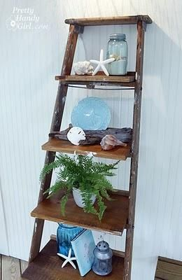 Ladder Shelves. This would be good for my patio. We already have
