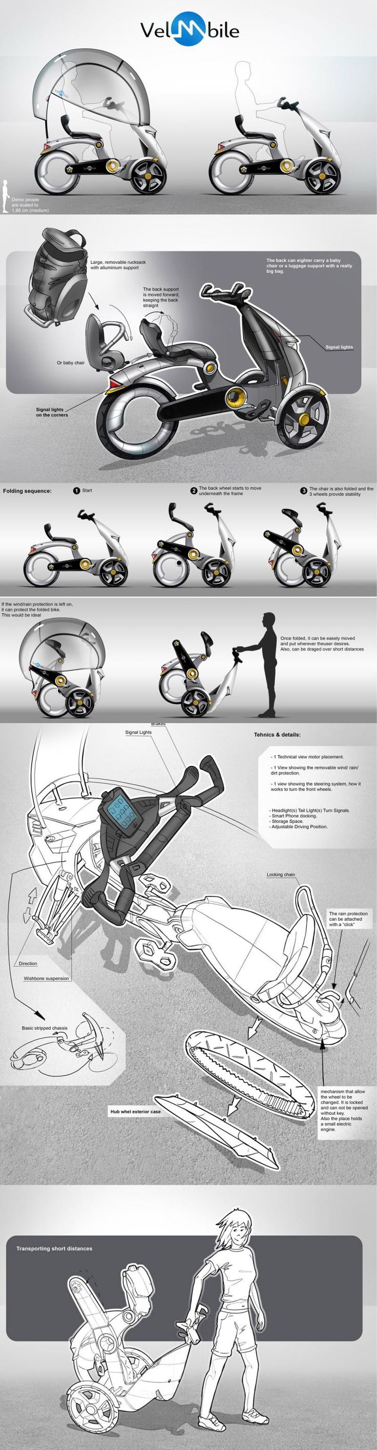 B'TWIN: velomobile concept designed Lucian Nicolae Acatrinei from Romania