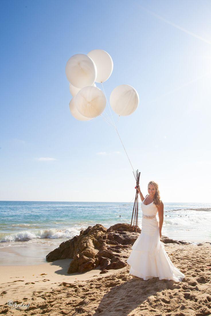 Latex wedding dress white and blue