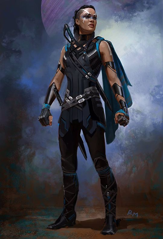 Valkyrie concept art for Thor: Ragnarok by Ryan Meinerding