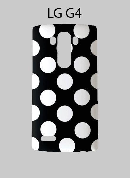 Black White Polka Dots LG G4 Case Cover