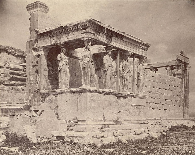 Erechtheum, Porch of Caryatids  Photographer: William James Stillman  1869