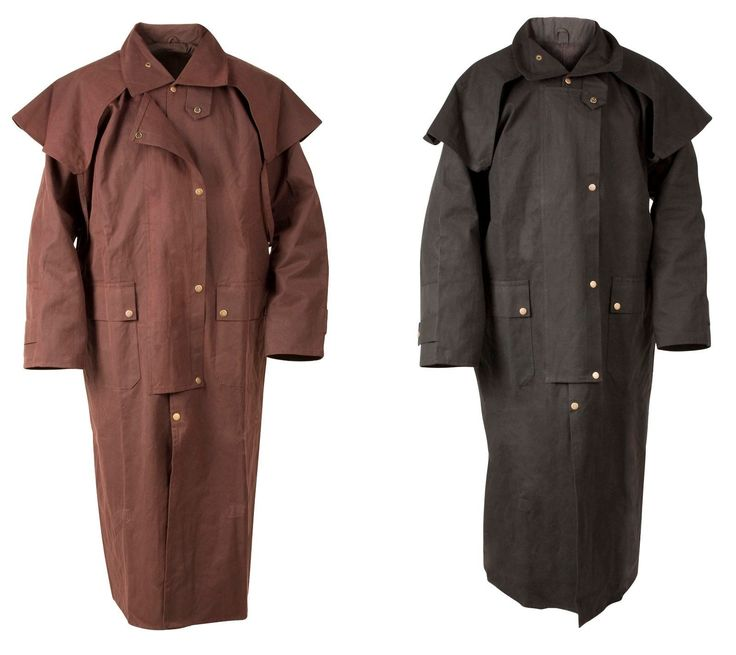 Men Coats And Jackets: Mens Oil Cloth Oilskin Western Australian Drover Waterproof Duster Coat Jacket -> BUY IT NOW ONLY: $85.49 on eBay!