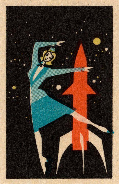 Die Raketenstewardess tanzt