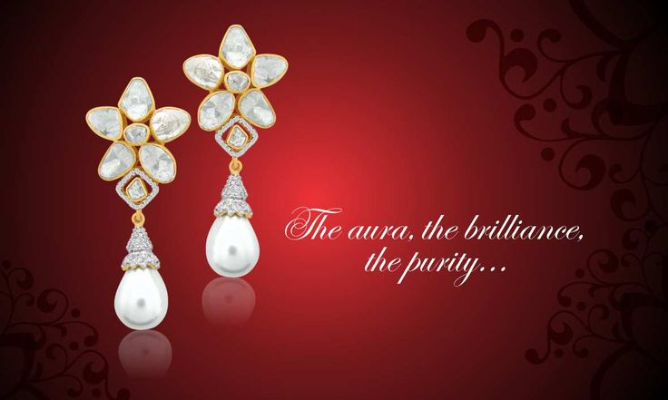 Check this fabulous pair of #Earrings that can steal your heart at just one look! #Diamonds #Jaipur #Kalajee