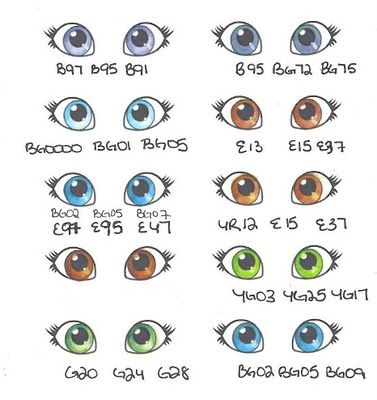 Eye Coloring Tutorial is here: http://whimsiedoodles.blogspot.ca/2010/05/tuesday-tutorial-colouring-eyes-with.html with a downloadable practice sheet.