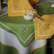 Для дома и интерьера ручной работы. Ярмарка Мастеров - ручная работа Салфетка столовая желтая/зеленая. Handmade.