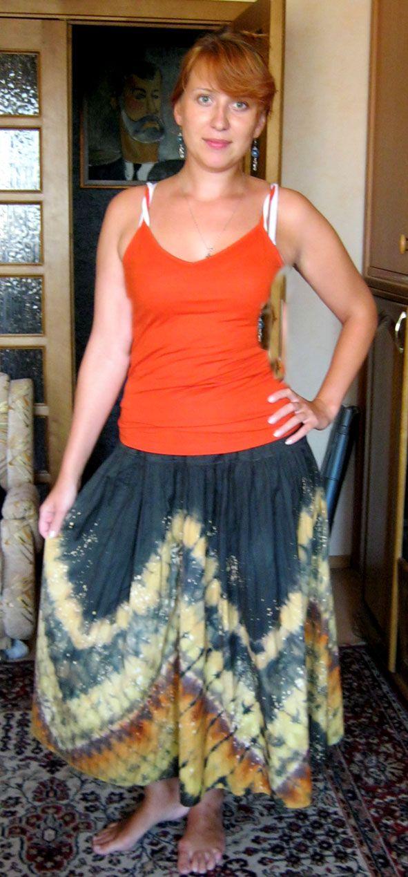La falda en técnica batik nodular .. Hable con LiveInternet - Servicio rusos Diarios Online