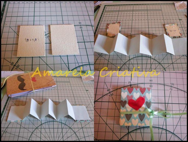 Amarela Criativa: Mini livro sanfonado com mensagem