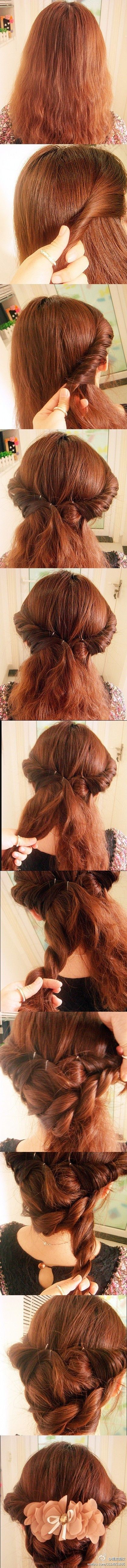An easy no heat vintage updo