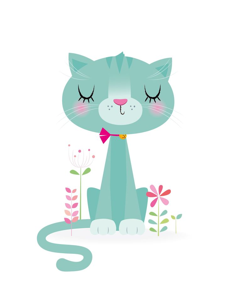 Baby girl nursery art, decoración de guardería, estampado de vivero de gato, estampado de vivero lindo, decoración de niñas verde azulado, estampado de gato, regalo de baby shower, decoración de niña