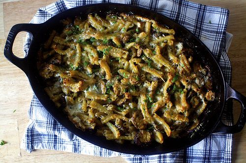 mushroom marsala pasta bake - this is AMAZING. I added chicken, doubled the pasta and sauce ingredients to make about 6 servings.