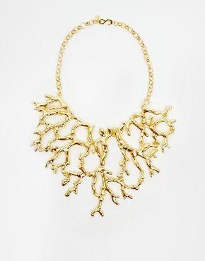 Agrandir Kenneth Jay Lane - Collier motif récif de corail - Doré