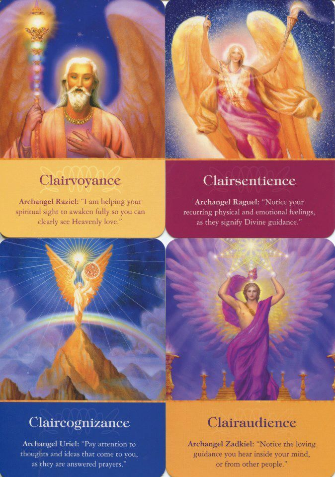 "Ability: There are four primary clairs, aka the way we perceive intuitive information. Clairvoyants ""see"", Clairsentients ""feel"", Claircognizants ""know"", and clairaudients ""hear."" ~ Radleigh Valentine 
