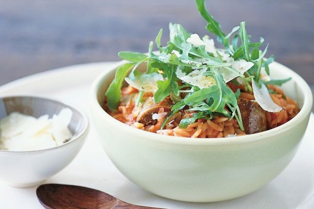 Try this wonderfully easy Italian dinner with chicken, pork or chorizo sausage.