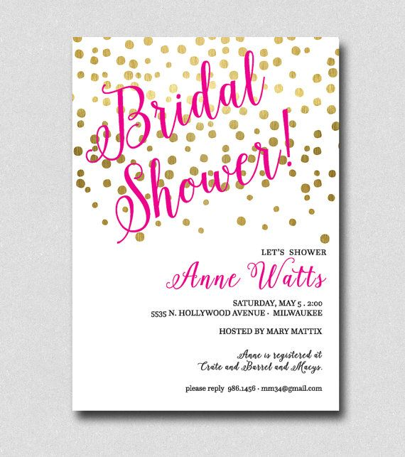 14 best Bridal Shower Invitations images on Pinterest Bachelorette - best of invitation party card