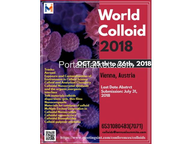 Portal Markets Add Listing Free World Colloid Conference 2018