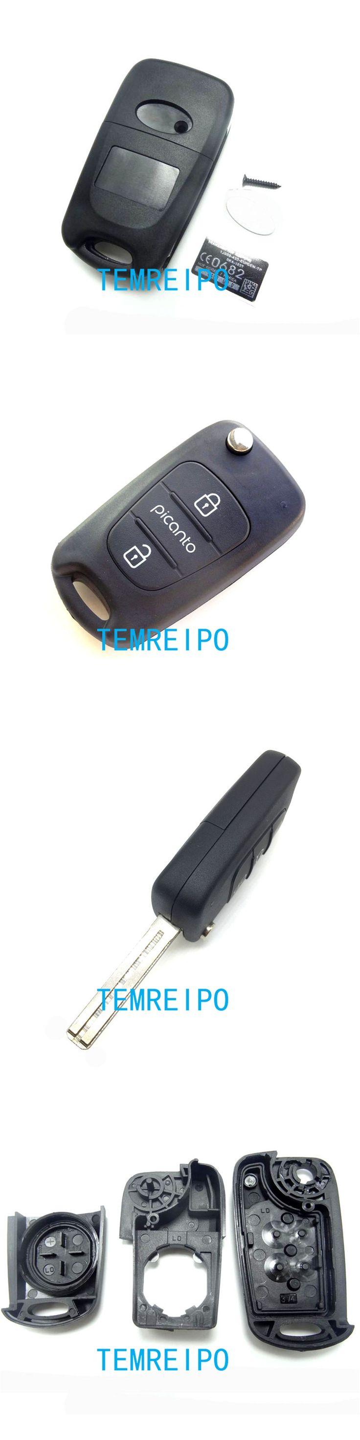 3 button Flip Folding car key case Shell fit for Kia Picanto Remote key Case Fob
