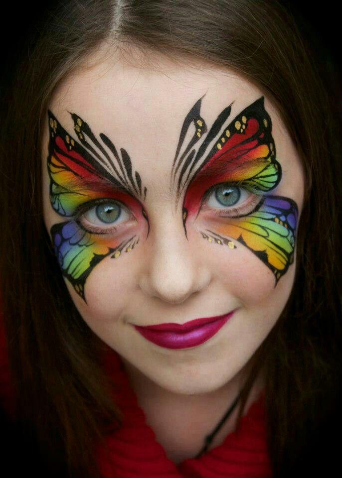 Rainbow Cake Butterfly Face Paint
