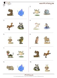 Free listening test makers, listening exercises worksheets, 100% customizable, with images and free matching audio files