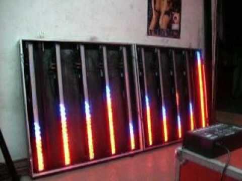 BARRA LED 1 METRO 320 LED RGBW CON TELECOMANDO - DMX - YouTube